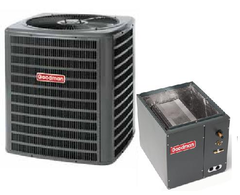 "Goodman 3.5 Ton Goodman 13 SEER R-410A Air Conditioner Condenser with 24.5"" Wide Vertical Cased Evaporator Coil at Sears.com"