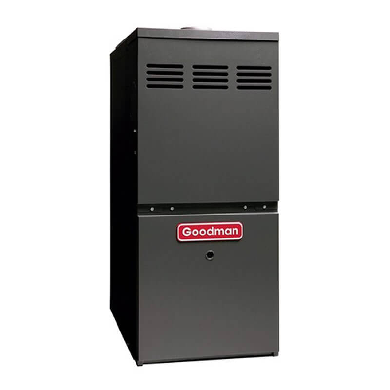 "Goodman 80% AFUE 60,000 BTU Two-Stage Variable Speed Upflow/Horizontal Gas Furnace (17.5"" Wide)"
