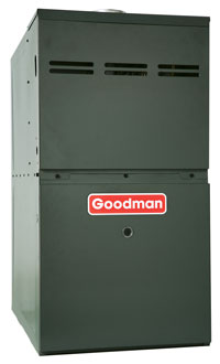 """Goodman 80% AFUE 80,000 BTU Two-Stage Variable Speed Upflow/Horizontal Gas Furnace (21"""" Wide)"""