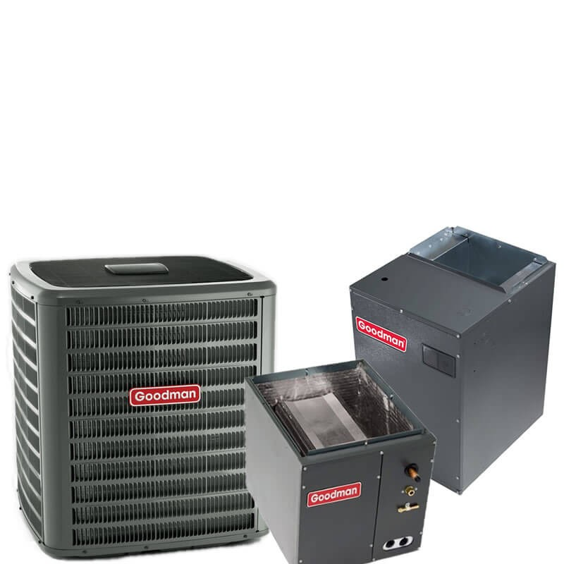 3 Ton Goodman 18 SEER R-410A Two-Stage Variable Speed Upflow Heat Pump Split System