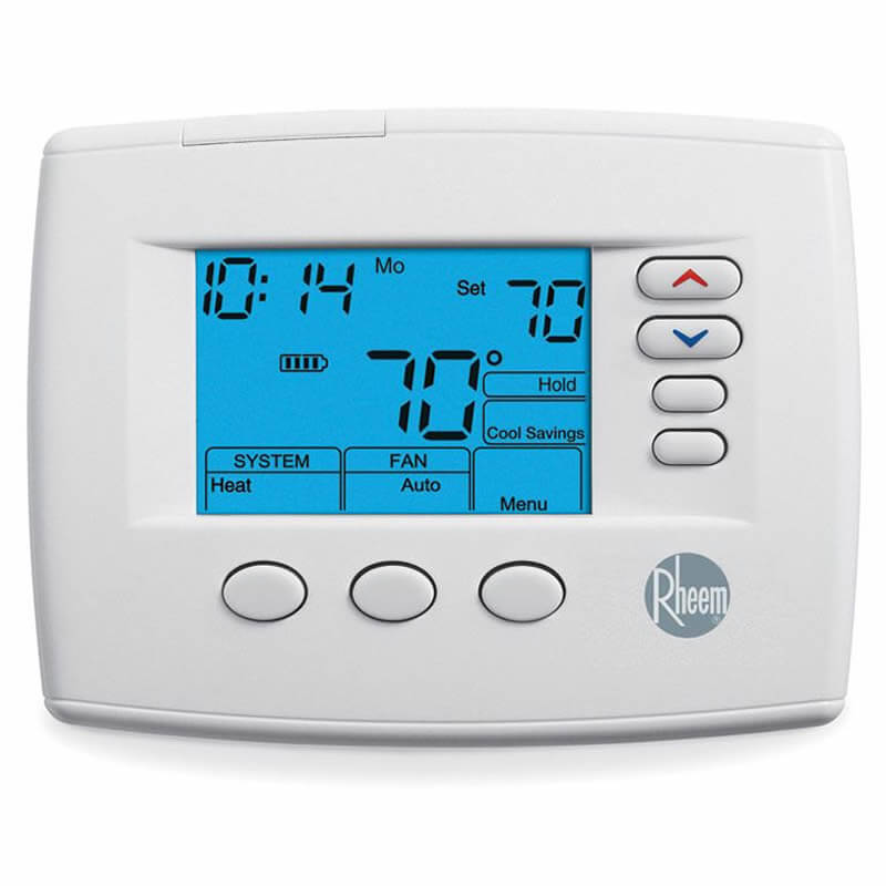 Rheem 200 Series Programmable/Non-Programmable Thermostat (Heat Pump: 3 Heat/2 Cool - Conventional: 2 Heat/2 Cool)