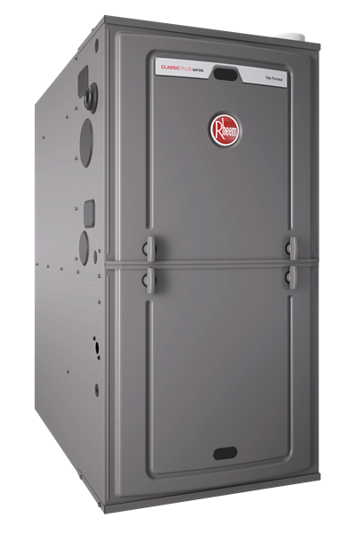 "Rheem 95% AFUE 112,000 BTU Single Stage Multi-Position Gas Furnace (PSC Classic Series) - 24.5"" Wide"