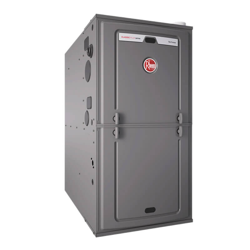 "Rheem 95% AFUE 112,000 BTU Single Stage Multi-Position Gas Furnace (ECM Classic Plus Series) - 24.5"" Wide"