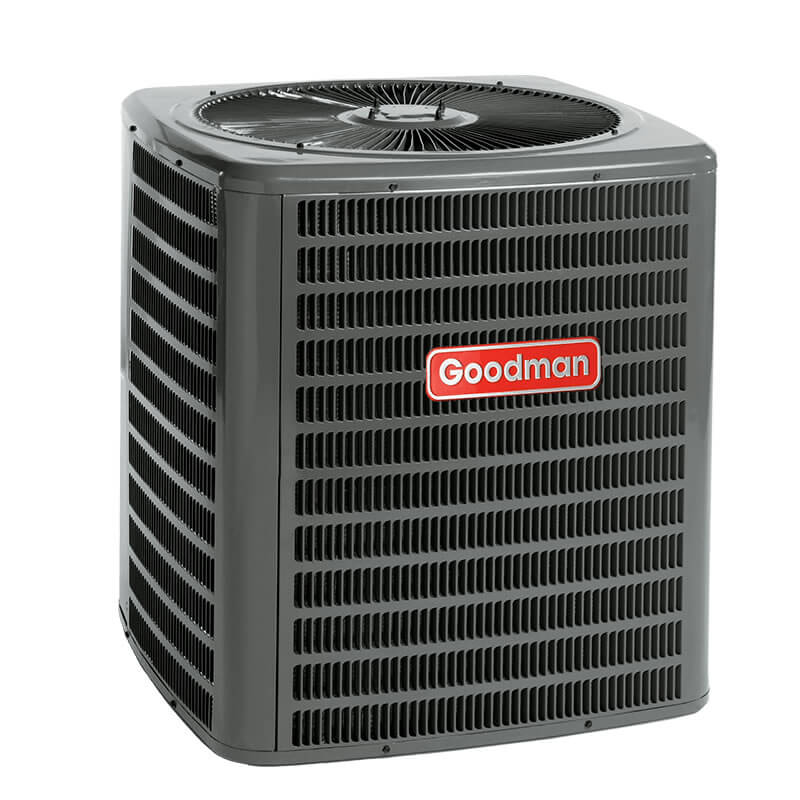 5 ton goodman 18 seer r 410a two stage heat pump condenser for Fan motor ac unit cost