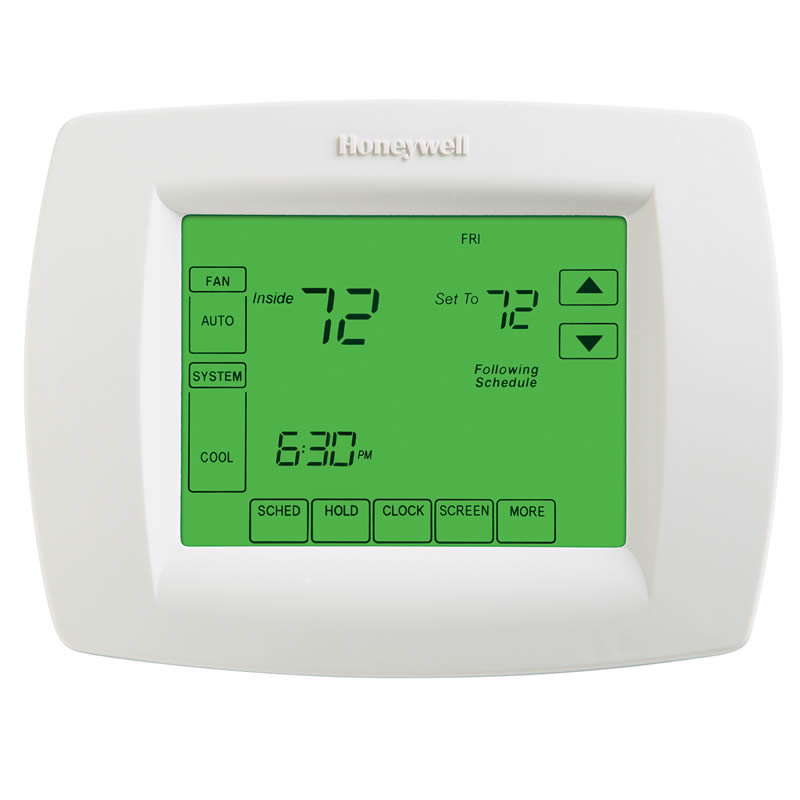 honeywell wi fi vision pro 8000 programmable non programmable touchscreen thermostat 3 heat 2. Black Bedroom Furniture Sets. Home Design Ideas