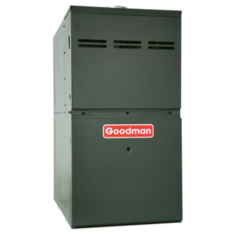 "Goodman 80% AFUE 80,000 BTU Two-Stage Variable Speed Upflow/Horizontal Gas Furnace (17.5"" Wide)"