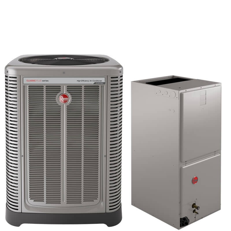4 Ton Rheem 17 Seer R410a Two Stage Air Conditioner Split System National Air Warehouse