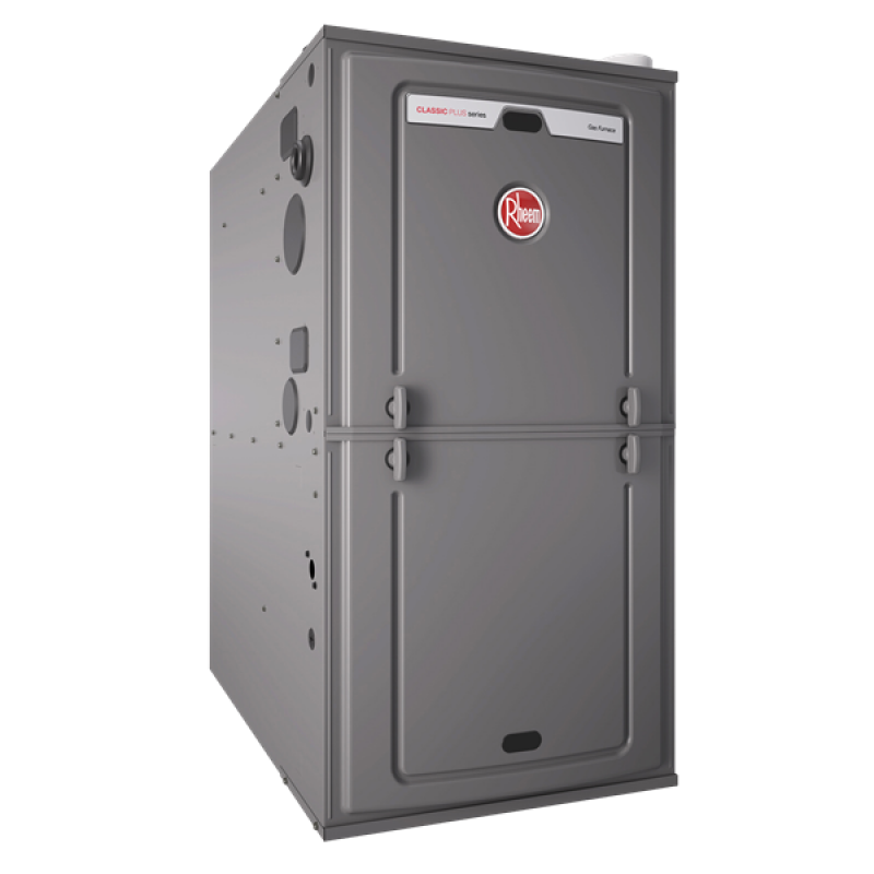 "Rheem 92% AFUE 112,000 BTU Single Stage Multi-Position Gas Furnace (Classic Plus Series) - 24.5"" Wide"