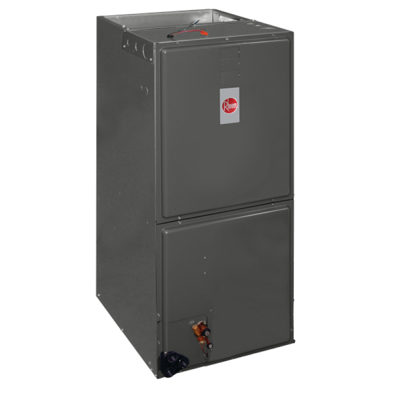 3 5 Ton Rheem R 410a Multi Position Air Handler besides Watch furthermore Goodman 80 Afue 100 000 Btu Upflow Horizontal Two Stage Gas Furnace Gmh8 Series moreover Cooling Coil furthermore Air Conditioner Home Rudd. on mobile home furnace and ac units