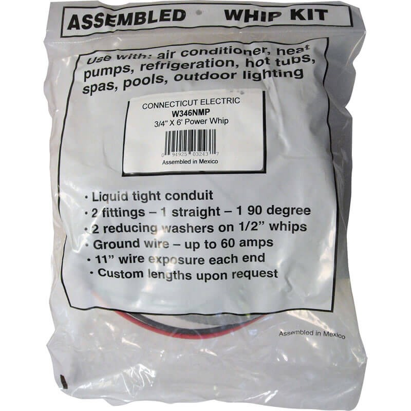 "3/4"" x 6' Power Whip Kit (8-Gauge)"