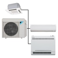 2 Zone Daikin 18.9 SEER BTU Heat Pump Ductless Mini-Split System (Up to 24K BTU)