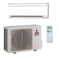 12,000 BTU Mitsubishi 23.1 SEER R-410A Heat Pump Ductless Mini-Split System