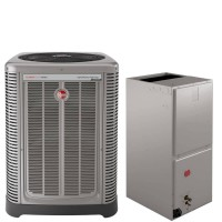 4 Ton Rheem 17 SEER R410A Three-Stage Variable Speed Heat Pump Split System