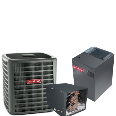 3 Ton Goodman 18 SEER R410A Two-Stage Variable Speed Horizontal Air Conditioner Split System