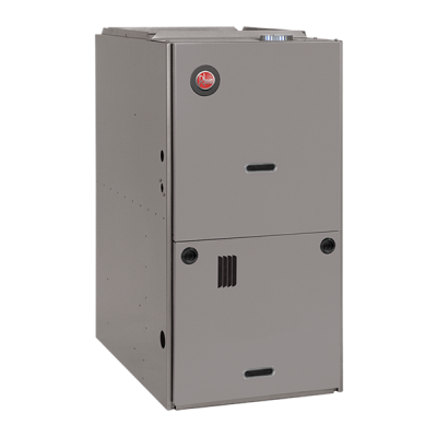 "Rheem 80% AFUE 125,000 BTU Single Stage Downflow Gas Furnace (Classic Series) - 24.5"" Wide"