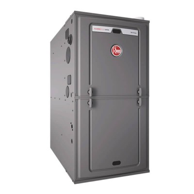 "Rheem 95% AFUE 56,000 BTU Single Stage Multi-Position Gas Furnace (ECM Classic Series) - 17.5"" Wide"