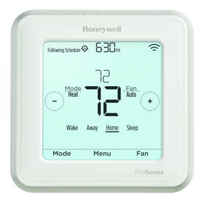 Honeywell Lyric T6 Pro Wi-Fi Touchscreen Programmable/Non-Programmable Thermostat (Heat Pump: 3 Heat/2 Cool - Conventional: 2 Heat/2 Cool)