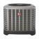 """4 Ton Rheem 14 SEER R410A Air Conditioner Condenser with 24.5"""" Wide Multi-Position Cased Evaporator Coil"""